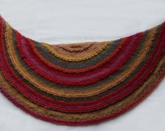 Half moon woman multicolor shawl
