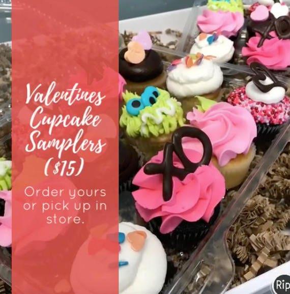 Valentine Cupcake Samplers
