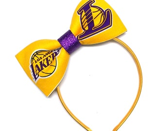 Lakers Glitter Bow