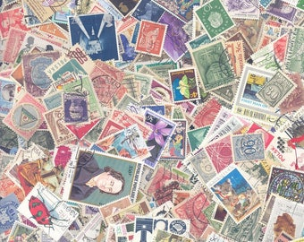 World Wide Postage Stamps - A Mixture of Used and Mint Stamps, from the Early 1900's til the 1990's.