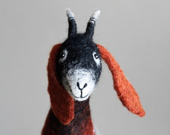 Felt Goat - Sibella. Felted Toy, Waldorf animals Marionette Puppet, Stuffed toy Farm Organic Toy for kids plush goat handmade soft toy