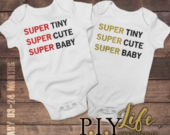 Kids   Super Tiny Super Cute Super Kids Kids Bodysuit DTG Printing on Demand