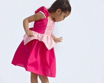 SLEEPING BEAUTY dress, Princess Aurora dress,  pink Princess dress, Sleeping Beauty costume, Halloween costume, practical princess dress