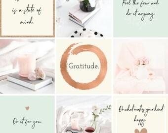 Blog Template - Blog kit - Blogger - Instagram Graphics - Purple Branding - Business Branding - Premade Blogger templates - Bloglovin - Blog