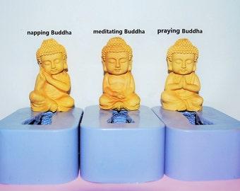 Silicone Mold - Silicone soap Mold - silicone lotion bar mold - Chinese Buddha mold - Buddha statue - easy release