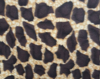 Giraffe Animal Print 02 Fleece Fabric by the yard