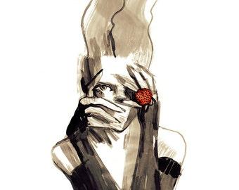 Lady Bird - A3 Giclee Print
