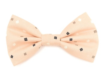The Vandalia Bow Tie — Brooklyn Bowtied, Dog Bowtie, Pink, Salmon, Green, Wedding, Dog of Honor, Ring Bearer, Preppy, Blush, Geometric