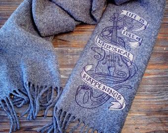 Handmade embroidered Sherlock Holmes Scarf