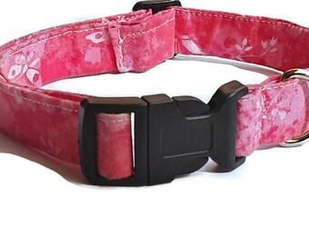 Rosa Mädchen Hundehalsband, bereit, Schiff, Stoff, Mittel/groß, verstellbar, Mädchen-Hundehalsband