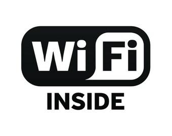 Stickers decal Wifi Inside sign food restaurant decoration Weatherproof Hobbies 12002