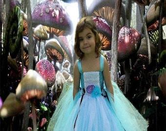 Alice In Wonderland Tutu Dress-Size  Newborn-12T - Birthday Costume inspired by Alice in wonderland
