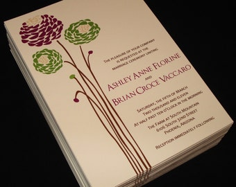 Dahlien - Hochzeitseinladungen