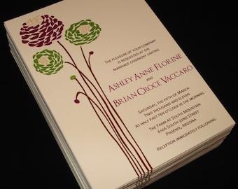 Dahlias - Wedding Invitations