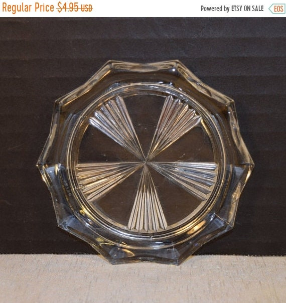 Delayed Shipping Reims France Glass Coaster Vintage Windmill Pattern Candle Holder Mid Century Drink Coaster Bar Cart Accessories Barware Co