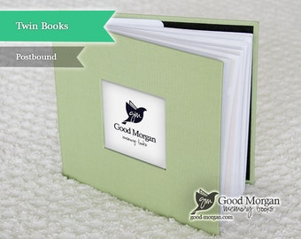 Twins Baby Memory Book - Sage Green