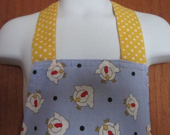 Kids Chicken full Apron Blue and Yellow