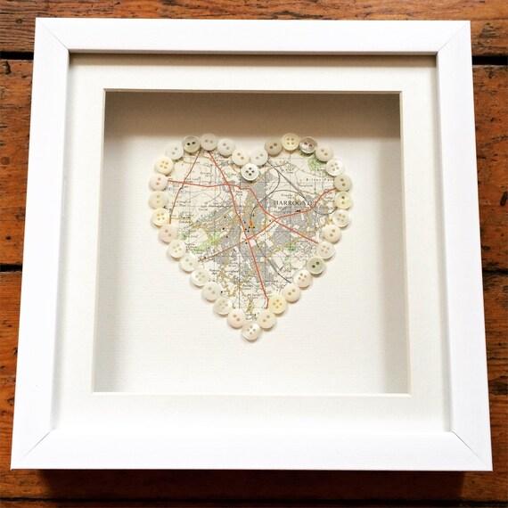 Map Button Heart