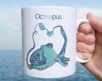 Funny Mug   Octeapus mug    Pun Mug  