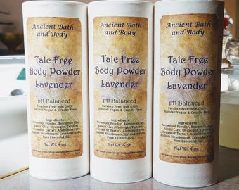 Lavender Body Powder, Talc FREE, pH Balanced Body Powder, Dusting Powder, Baby Powder, Deodorant Powder