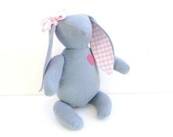 Floppy eared bunny, Easter bunny rabbit toy, fabric stuffed bunny, children Easter gift, handmade bunny