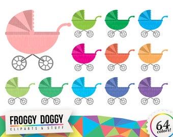 Stroller Clipart, Baby Shower Clipart, Children Clipart, Toddler Clipart, Nursery Clipart, Planner Clipart, Scrapbooking Cliparts