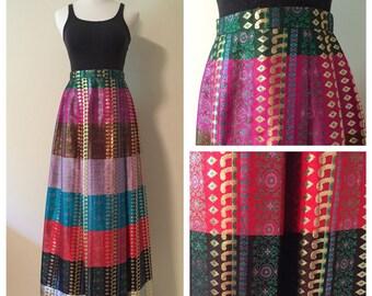 Vintage Colorblock Hindu Princess Skirt