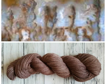 Hand Dyed Yarn, Merino, DK Weight Tonal Yarn Perfect for Hats, Cowls, Scarves, Sweaters and Mittens - Pointe Plume Agate
