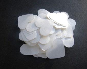 ON SALE- 1,000 Dissolving/Biodegradable Heart confetti