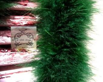 Hunter Green Marabou Boa Feathers