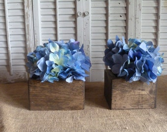 Wooden Box, Storage Box, Cottage Chic Decor, Wedding Decor, Wooden Planter Box, Rustic Wedding Center Piece