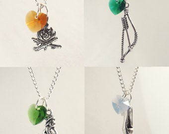 Neal/Baelfire, Robin Hood, Wicked Witch, Cinderella Once Upon A Time Character Necklaces