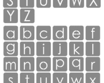 Crafti-Ness Alphabet stencil set - Upper and Lower case 4cm square.