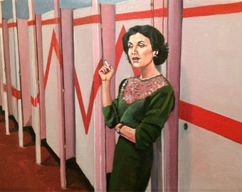 Audrey Horne Twin Peaks Bathroom Oil Painting