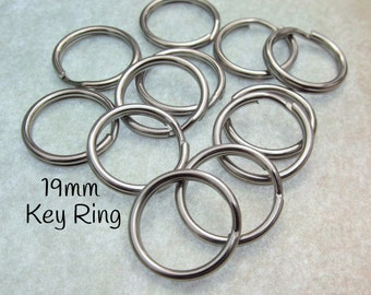 "19mm Split Ring - Stainless Steel Split Rings - 19mm key ring - Solid Stainless Steel 3/4"" Split Rings - Heavy Duty Small Key Ring (130)"
