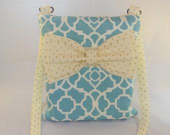 Cross body bow purse