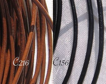 2 meters = 200 cm leather thread o2mm lace cord to choose from black or brown for several bracelets * C216 * C156