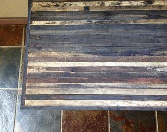 25% OFF Sale - Coffee Table - Barn wood Industrial Furniture - Modern Reclaimed Barnwood Rustic Wood and Vintage Hairpin Legs