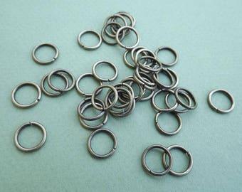 Wholesale rings 10 mm bronze metal (x 20)