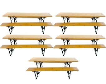 5 Picnic Table Sets from Legendary German Beer Halls, SHIPS FREE! Many sets available