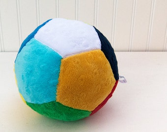 Soft Rattle Ball Plush Toy Minky Baby Ball Ready to Ship