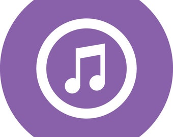 Social Media Icons - Individual (Circular) - iTunes