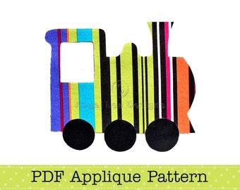 Train Applique Template, Transport, DIY, Children, PDF Pattern by Angel Lea Designs, Instant Download Digital Pattern