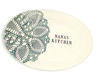 Nana's Kitchen Platter, Nana Birthday, Gift for Nana, Grandmother Gift, Mother's Day Gift, Personalized Platter, Nana Christmas Gift