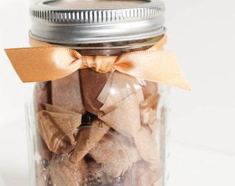 Fathers Day, Teacher, Co Worker, Boss, Postman, Doorman, Hostess Gift (1) Half Pound Jar of Fleur de Sel Caramels