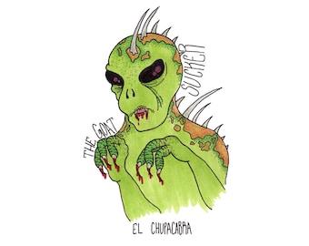 El Chupacarbra, 8x10, Print
