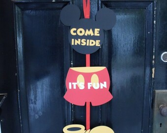 Mickey Mouse Birthday Door Sign, Mickey Mouse Clubhouse Decorations, Mickey Mouse Birthday Decorations, Party Decorations