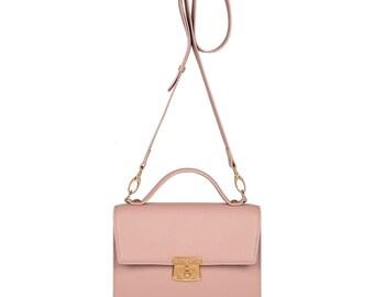 Leather Cross body Bag, Tourmaline Leather Shoulder Bag, Women's Leather Crossbody Bag, Leather bag KF-1283