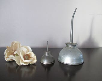 Set of 2 vintage Oil Cans