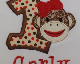 Sock Monkey T-Shirt or Bodysuit